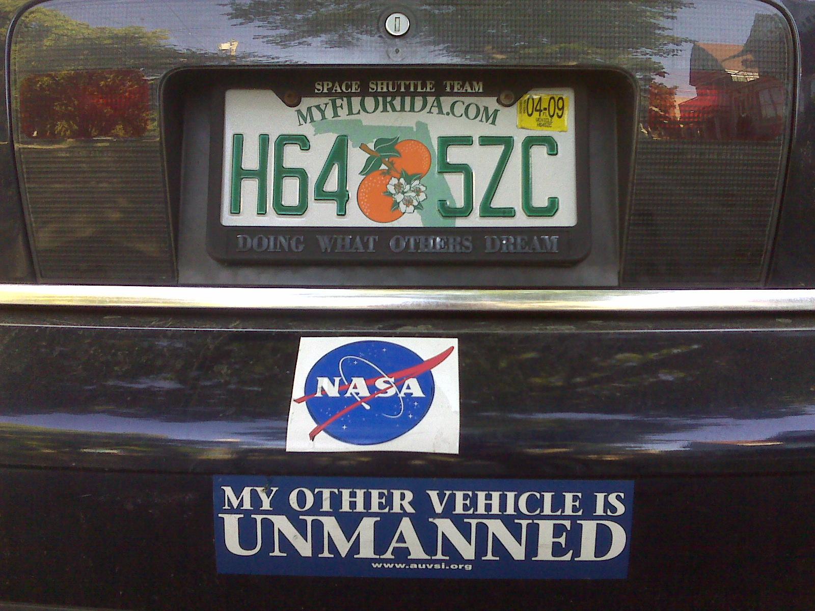 Space bumper stickers