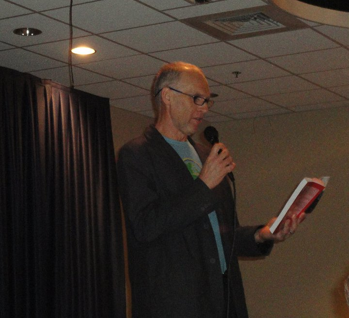 Gary Allen reading from my book